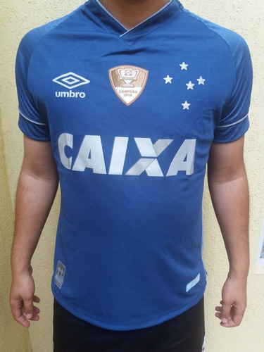 Camisa Do Cruzeiro Umbro Terceiro Uniforme 2018 Patch 2018 c5fd54cbb69c3