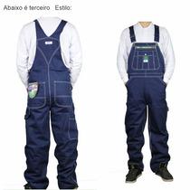 Macacao Masculino Jeans Tamanho 48 A Pronta Entrega