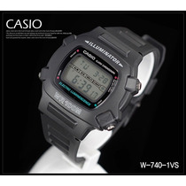 Relógio Casio W-740-1vs Illuminator Digital Esportivo Forte