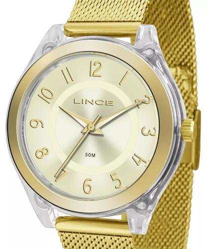 32390dc3793 Relógio Lince Feminino Dourado - Lrg4432p C2kx