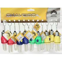 Kit 12 Chaveiros Mini Lâmpada - Chave Do Carro Casa Revenda