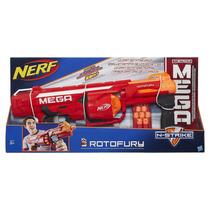 Brinquedo Novo Nerf Rotofury N-strike Mega Lança Dardos 23m
