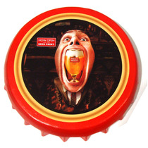 Quadro Tampinha Cerveja Decorativo Redondo Stella Artois