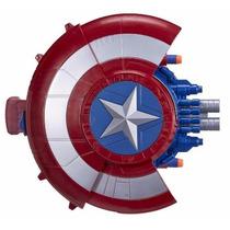 Escudo Capitão América Guerra Civil Lança Dardos Nerf Hasbro