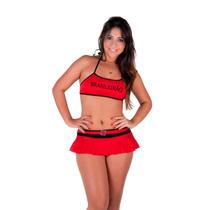 Conjunto De Lingerie Sexy Flamengo Fluminense Ou Corinthians