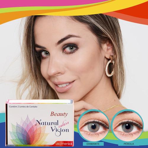 66ede85a10fd7 Lentes De Contato Colorida Mensal Beauty Natural Vision