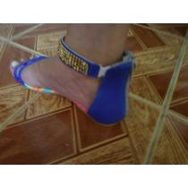 Rasteirinha Número 35 De Couro Sapato Feminino Com Ziper