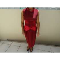 Vestido Social Feminino Longo Vinho