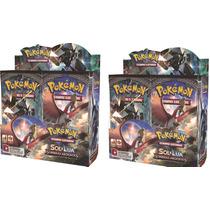 3 Box 108 Boosters Pokémon Sol E Lua 3 Sombras Ardentes
