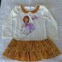 Vestido Princesa Sofia Com Saia De Paetê - Pronta Entrega