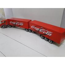 Caminhão Scania Bitrem Brinquedo Miniatura 9 Eixo Coca Cola