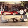 Papel De Parede Carro Retro Posto Gasolina 2,70x2,40m Gg131