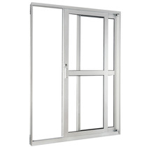Porta Balcão Com Vidro Alumínio Branco 300x210
