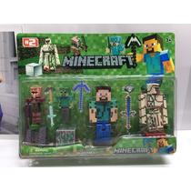 Minecraft Kit Boneco Brinquedo Pronta Entrega