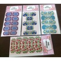 10 Cartelas Adesivos Impressos C/fundo Branco /frete Fixo