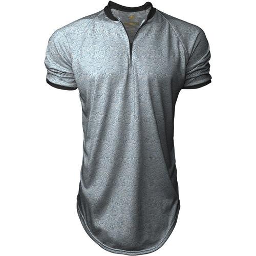 Camiseta Longline Masculina Gola Polo Esporte Swag dccb23f623967