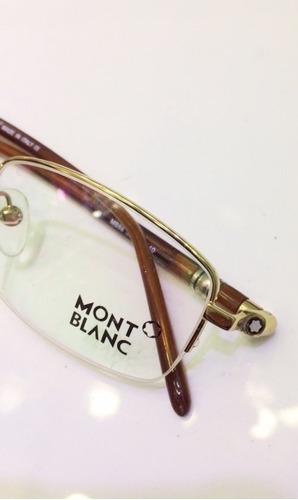 a9d17d15a0108 Armação Oculos Grau Montblanc Mb89 Tortoise Meio Aro Dourada. R  119.99