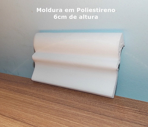 Sanca moldura em poliestireno 6cm de altura r - Molduras de poliestireno ...