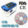 Oxssimetro#* 50d+ Azul Usb + Software + Itens Veja Descricao