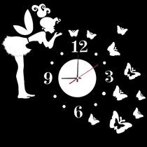 Espelho Adesivos- Relógio- Fada 3d Borboleta- Decoração