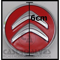 Calota Tampa Centro Roda Citroen Ds3 Ds4 Ds5 Vermelho = 1 Pç