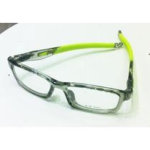 Armação Óculos Grau Crosslink Pitch Preto C/ Borracha Verde