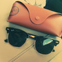 Óculos Solar Ray-ban Original Clubmaster Rb3016 Preto G15