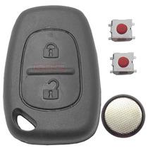 Frete Grátis Kit Capa Chave + Botões + Bateria Renault Clio