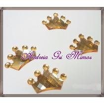 100 Chaton Coroa Dourada 12mm