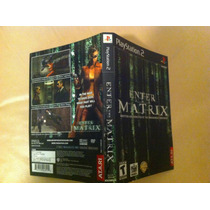 Enter The Matrix - Encarte Original Playstation 2