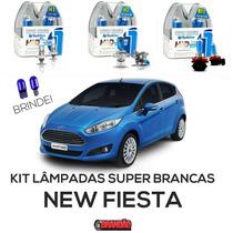 Kit Lâmpadas Super Brancas Tech One New Fiesta H1 + H7 + H11