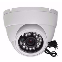 Camera Dome Seguranca Ccd Color 1/3 Infra 24 Led 1200 Linhas
