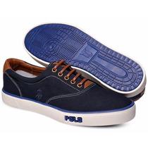 Tênis Polo Sneaker Masculino Azul Marinho