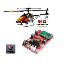 Placa Receptora + Motor Principal Helicóptero V-913 Wltoys