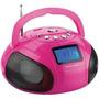 Mini Rádio Boombox Usb/fm/sd 10w Rosa Sp146 Multilaser