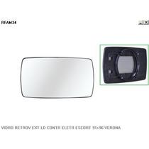 Vidro Retrovisor Direito Ford Escort 91/96 - Metagal
