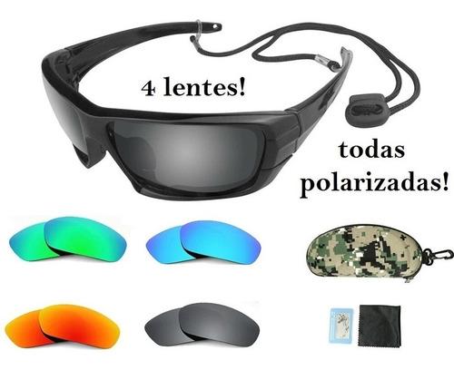 e1c8daf4a Óculos Polarizado P/ Pesca Anti Reflexo 4 Lentes Polarizadas. R$ 169.99