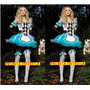 Alice No País Das Maravilhas Fantasia Adulta Feminina Festas