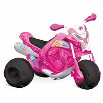 Triciclo Moto Eletrica Trail Barbie El 6v 2043 Bandeirante