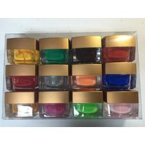 Kit Com 12 Gel Colorido Solido Para Decoração De Unhas.