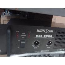 Amplificador Watsom Dbs2000 A Toda Prova 500 Wts Em 4ohms