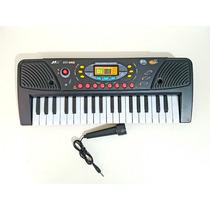 Teclado Piano Eletrônico Infantil Com Microfone 37 Teclas