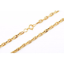 Cordão Corrente Cadeado De Ouro 18k Masculino 4mm 60cm