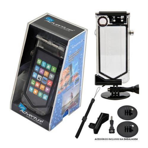 Estojo Para Iphone 4 / 4s Go Adventure - Kraft - Transparente