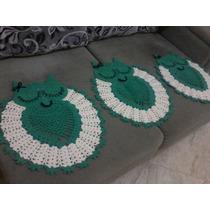Jogo De Tapetes Para Banheiro De Croche (coruja)