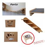 Nicho P/ Gato 5pçs = 2nichos+prateleira+escada+ponte Mdf15mm