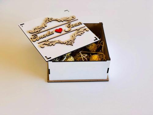 15 Caixa Mdf Convite De Casamento Padrinhos Arabesco 15x15x7 R