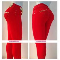 Calça Rhero Vermelha Original Com Bojo Levanta Bumbum
