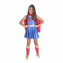 Fantasia Super Mulher Infantil Tamanho P Sulamericana