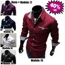 Camisa Social Slim - Lindas Camisas - Envio 24 Horas